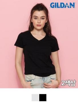 [길단 GILDAN] 30수 여성용 V넥 티셔츠 SOFT STYLE (150g)